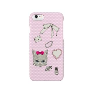 にゃん子のラブレター Smartphone cases