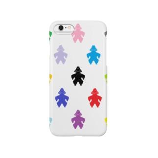 土偶カラフル模様 Smartphone cases