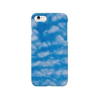 OTOFUのうろこ雲とひこうき Smartphone cases