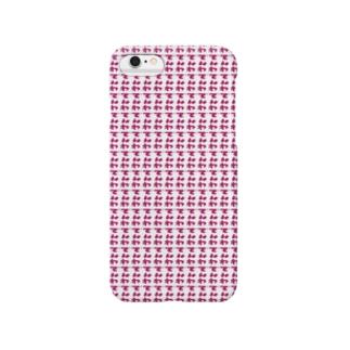 【8bit】主張の激しいでんわ【ピンク】 Smartphone cases