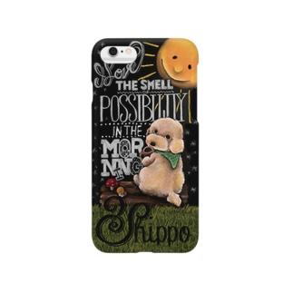 チョークアート_トイプードル Smartphone cases