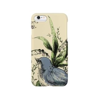 スズランと鳥 Smartphone cases