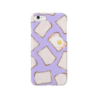 しょくぱん /purple Smartphone cases