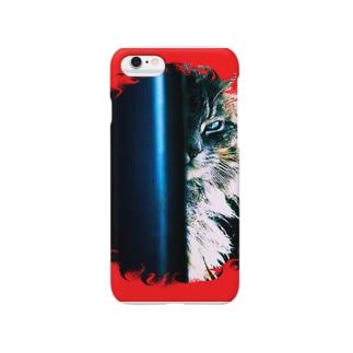 あの猫デビルが見ている Smartphone cases