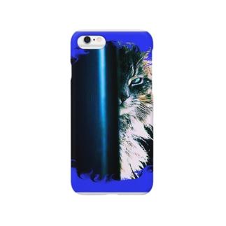 テル!のお店のあの猫デビルが見ている Smartphone cases