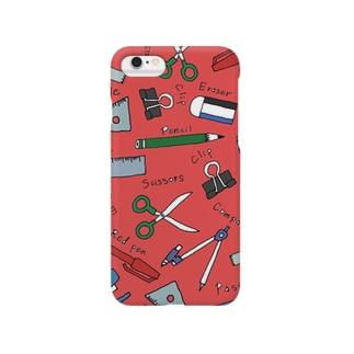 ぶんぼうぐ /red Smartphone cases