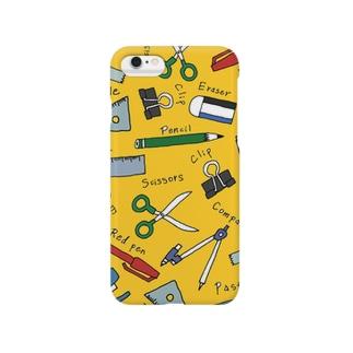 ぶんぼうぐ /yellow Smartphone cases