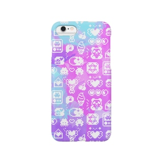 Apps and Beads ものぐらむ(しろ) Smartphone cases