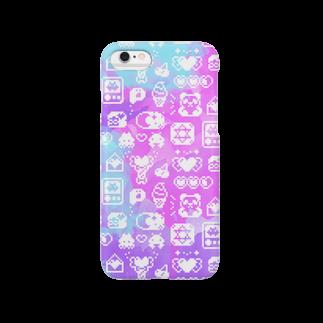 ヌンのApps and Beads ものぐらむ(しろ) Smartphone cases