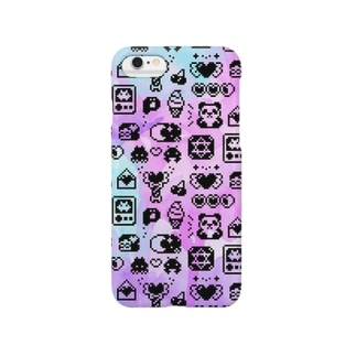 Apps and Beads ものぐらむ(くろ) Smartphone cases