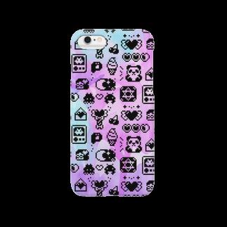 ヌンのApps and Beads ものぐらむ(くろ) Smartphone cases