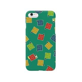 四畳半(ターコイズ) Smartphone cases
