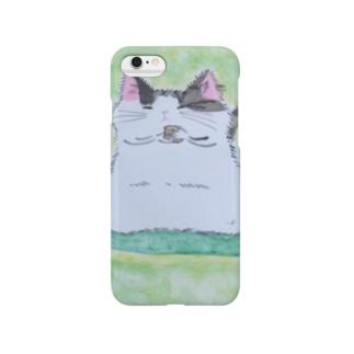 餅猫シダー お茶の時間 Smartphone cases