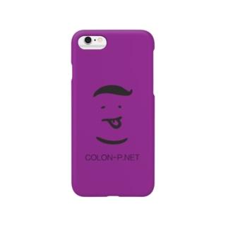 colon-pのコロンピさんのiPhoneケース(パープル) Smartphone cases