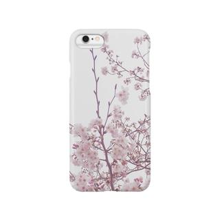 七分咲き桜のスマホケース Smartphone cases