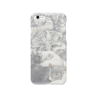 ねこだんごの中のアングラ女王 Smartphone cases