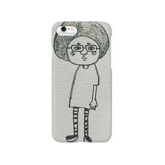 髪型じゃないよ、帽子だよ Smartphone cases