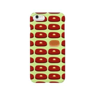 ビフテキ・まちがいさがし(緑) Smartphone cases