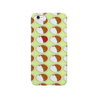 カレーライス・まちがいさがし(緑) Smartphone cases