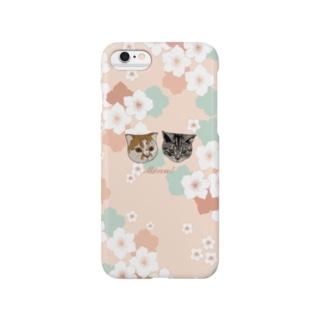 Meau!桜と猫のiPhoneケース スマートフォンケース