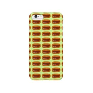 とんかつ(緑) Smartphone cases