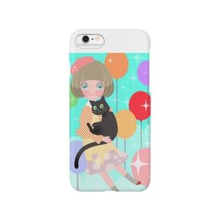 黒猫と女の子 Smartphone cases