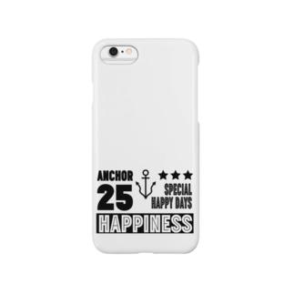 Happinessイカリマーク(黒) スマートフォンケース