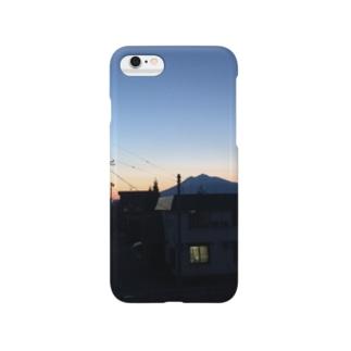 夕空と岩木山 Smartphone cases