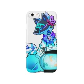 色狐(青) Smartphone cases
