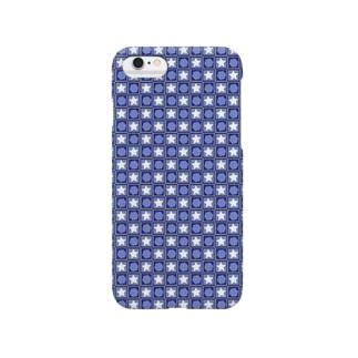 星とハニカム Blue ver Smartphone cases