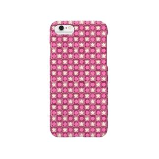 星とハニカム Pink ver Smartphone cases