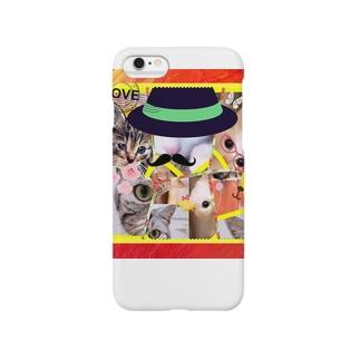 ニャンコ一杯賑(にぎ)やかし Smartphone cases