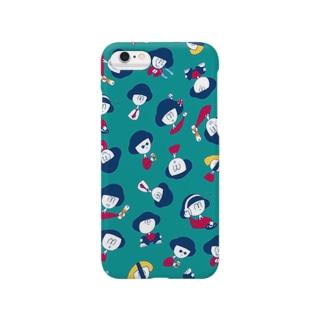 おかっぱチャン /green Smartphone cases