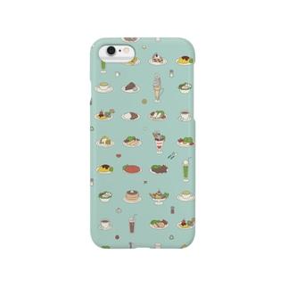 純喫茶-ブルー Smartphone cases