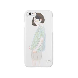 横顔 Smartphone cases