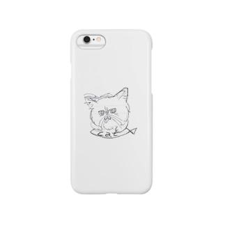 猫に魚 Smartphone cases