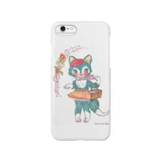 青ねこちゃんのお買い物 Smartphone cases