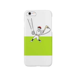 おっちょこちょいな野球少年ケース Smartphone cases
