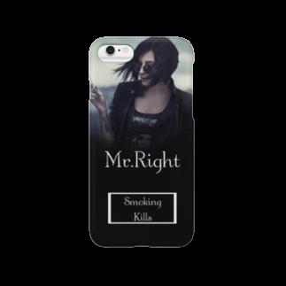 Mr.Rightの映画のジャケットのようなファッションアイテム Smoking Kills Smartphone cases