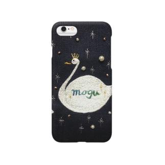mogu刺繍swan Smartphone cases