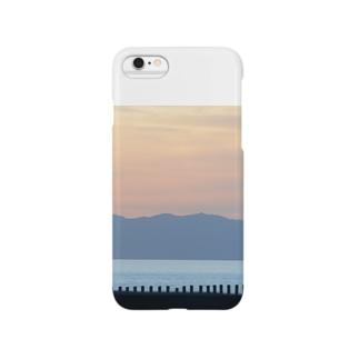 夕焼けレイヤード Smartphone cases