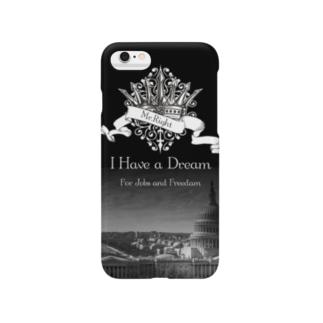 人気のモノトーンファッション 「I Have a Dream」 Smartphone cases