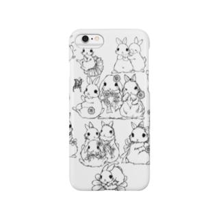 うさぎデッサンイラストシリーズ Smartphone cases
