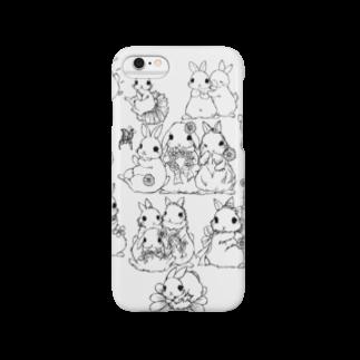 アトリエねぎやまのうさぎデッサンイラストシリーズ Smartphone cases