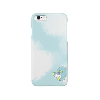 ひとことぺんぎん 空 Smartphone cases