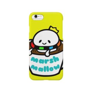マグカップの中のマシュマロ王子。-Yellow- Smartphone cases