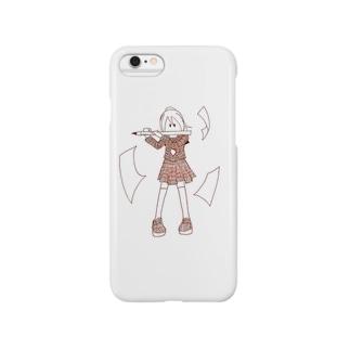 鉛筆吹きの少女 Smartphone cases