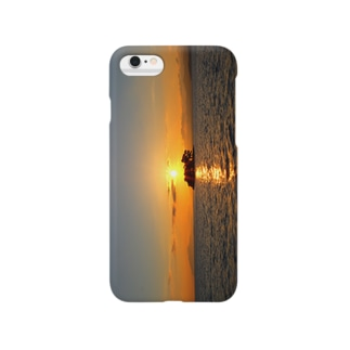 宍道湖sunset Smartphone cases