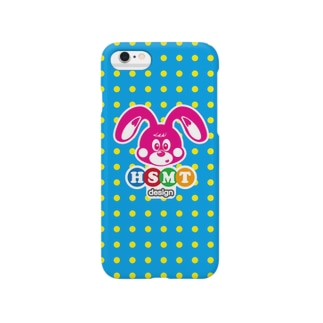 HSMT design BUNNY BLUE DOT Smartphone cases