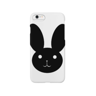 黒うさ。 Smartphone cases